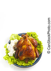 Roast Chicken - Roasted whole chicken with vegetable and...