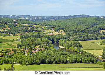 Dordogne Valley - View of the Dordogne Valley from the...