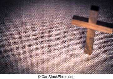 Holy Wooden Christian Cross - An aerial view of a holy...