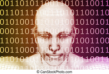 Cyber Security Professional as a Digital Concept Art