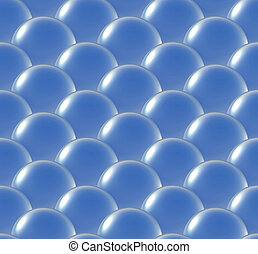crystal ball overlap pattern blue - Repeating the crystal...