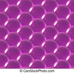 crystal ball overlap pattern magenta - Repeating the crystal...