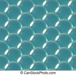 crystal ball overlap pattern sea blue - Repeating the...