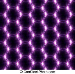 Lens Flare overlap purple ring pattern