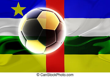 Flag of Central African Republic wavy soccer - Flag of...