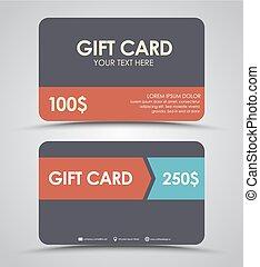 Design gift cards