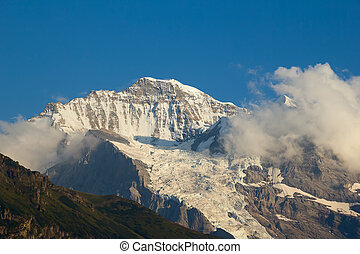Jungfrau region - Jungfrau mountain in the swiss alps