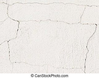 White dilapidated wall - white old rough concrete painted...