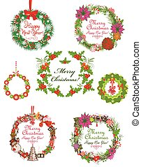 Collection of xmas wreath