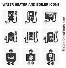 Water heater and boiler icons