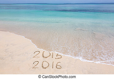 Years 2015 and 2016 - Year 2015 is washed away by ocean wave