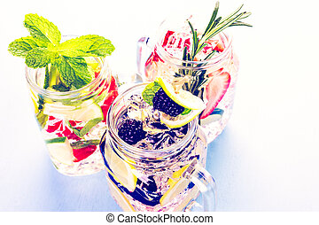 Infused water - Fresh infused water made with organic...