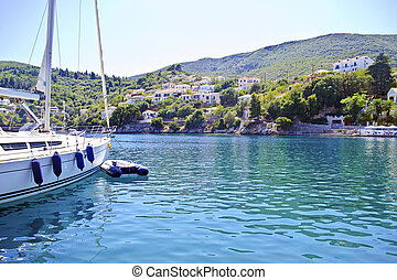 Kioni port Ithaca Greece - Kioni port in Ithaca island...