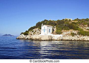 saint Andrew chapel Ithaca Greece - saint Andrew chapel in...