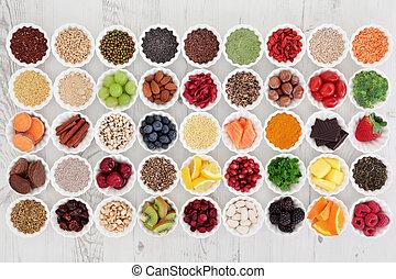 Super Food - Large super food selection in porcelain crinkle...