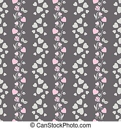 Elegant seamless pattern with abstract roses