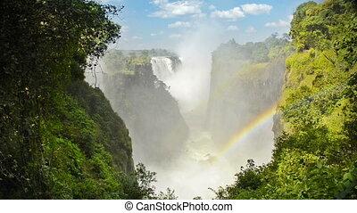 Victoria Falls Africa - Victoria Falls Devils Cataract or...