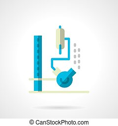 Chemical lab equipment flat color vector icon - Flask with...