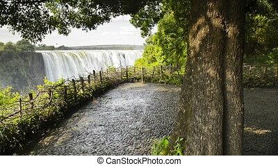 Victoria Falls Lookout - Victoria Falls or Mosi-oa-Tunya...