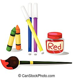 Illustrator of color with Color Magic Color pencil crayons...