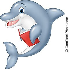 Standing little Dolphin - Vector illustration of Standing...