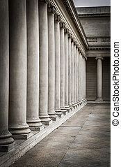 Columns in the courtyard of the Palace of the Legion of...