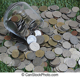 Jar with full of coins