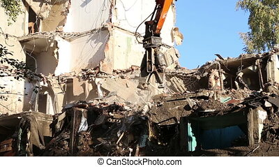 Demolition of an old house