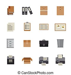 Documents and reports Icons set