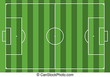 Soccer field or football field, Vector