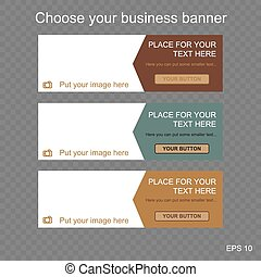 responsive web banner for business or non-profit...