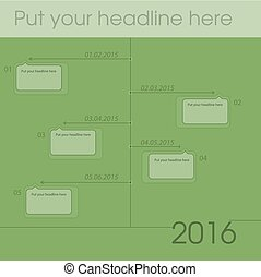 newsletter template graph for business or non-profit...