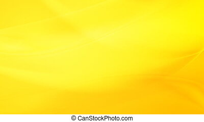 Yellow moving flowing waves video animation - Yellow moving...