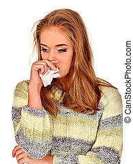 Womens tears The reasons may be different Colds, allergies...