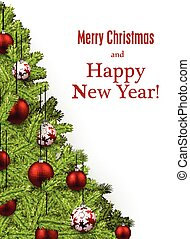 New Year and xmas card. - New Year and xmas card with...