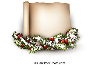 Christmas congratulatory background. - Christmas...