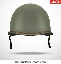 Military US helmet M1 WWII - Military US green helmet...