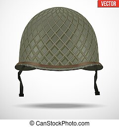 Military US helmet M1 WWII with net - Military US green...