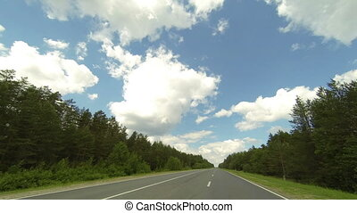 Clouds over the road.