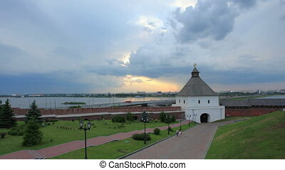 Kazan Kremlin before the storm. Kazan, Republic of...