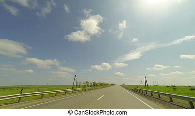 Clouds over the road The path from Koksoviy village - Belaya...