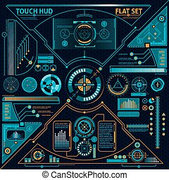 Touch HUD Set - Touch HUD flat set with diagrams and charts...
