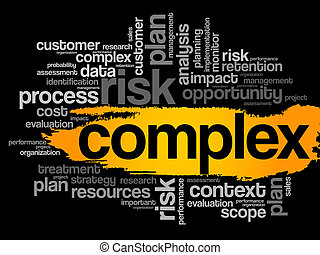 Complex word cloud, business concept
