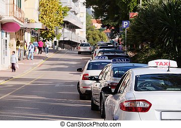 Tivat, Montenegro, October, 25: Cars on the street of Tivat,...