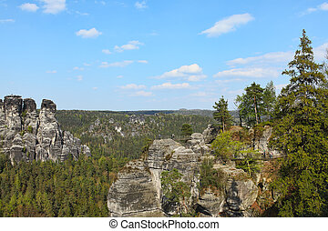 Saxon Switzerland natural reserve near Dresden, Germany