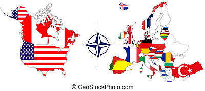 NATO with USA, Canada und Europe