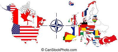 NATO with USA, Canada und Europe