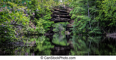 Tennessee Scenery Panorama - Kayaking the Natural Arch in...
