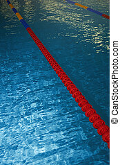 Swimming pool with lane markers Vertical photo