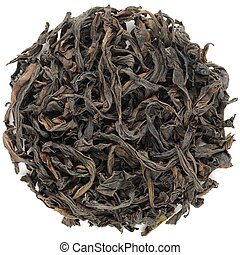 Huang Guan Yin Wuyi Shan roasted oolong round shape isolated...